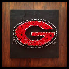 uga football string art home decor by first twin co first twin