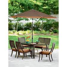 Patio Table With Umbrella Hole Outdoor Patio Table Ebay