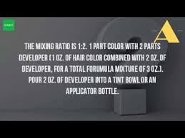can you mix igora hair color how much developer do you mix with 2 oz of hair dye youtube