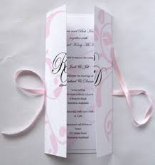 folding wedding invitations new zealand wedding invitation with folding cover with ribbon