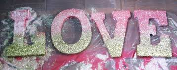 ombre glitter love sign diy camp makery