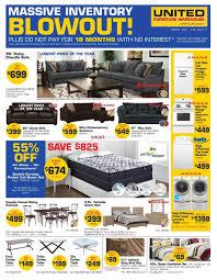 furniture warehouse kitchener united furniture warehouse canada flyers
