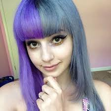 salt and pepper hair with lilac tips half and half lavender and gray hair hair colors ideas
