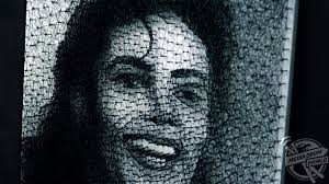 incredible portrait of michael jackson made with only string and