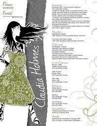 Fashion Design Resume Creative Fashion Resume Free Resume Example And Writing Download