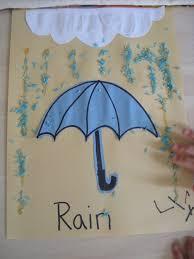 rain crafts for kindergarten cut out construction paper umbrella