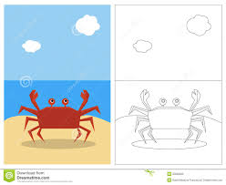 coloring page book crab stock photo image 20588530