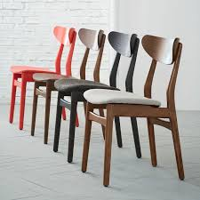 Navy Bistro Chairs Classic Café Dining Chair Walnut West Elm