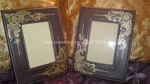 leather picture frames leather frames with gold design leather gold henna design flickr