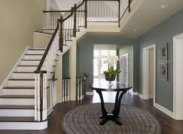 blue entryway ideas formal sophisticated entry paint color