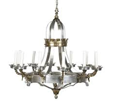 12 Arm Chandelier Renaissance Style Brass And Pewter 12 Arm Chandelier Avery