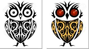 tattoo owl design vector art royalty free cliparts vectors and