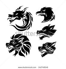 tribal tattoo set of 5 different vector tribal tattoo in