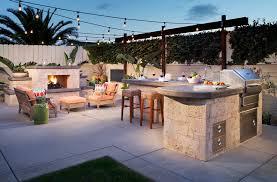 backyard concrete patio tropical with retreat contemporary gas