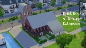 the sims 4 brick house with tower extension build youtube