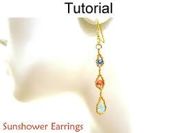 beginner earrings sunshower drop earrings easy beginner beading jewelry