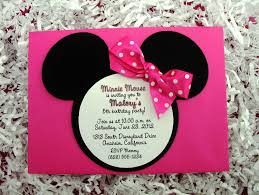 Mickey Mouse Birthday Invitation Card Very Cute Invitation Idea For A Little U0027s Minne Themed
