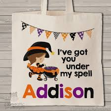 personalized trick or treat bags personalized bag for kids trick or treat bag