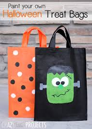 trick or treat bags paint your own trick or treat bags projects