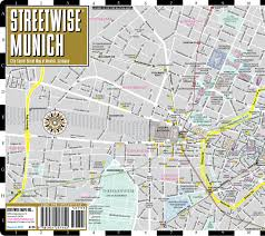Map Of West Germany by Streetwise Munich Map Laminated City Center Street Map Of Munich