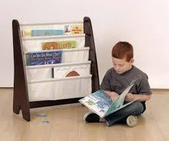 Fabric Sling Bookshelf Sling Bookcase With Storage Bins U2013 Home Improvement 2017 Kids