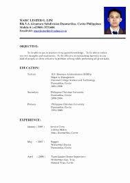 basic resume exles 2017 philippines filipino resume sle fresh exles resumes resume exle