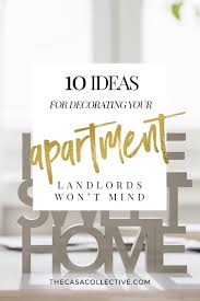 10 landlord friendly apartment decorating ideas