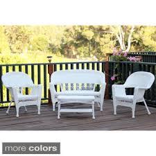 White Wicker Patio Chairs Patio Furniture Wicker 6pc Sectional Sofa Set Outdoor Wicker Patio