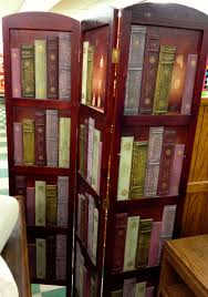 bookshelves as room dividers with exciting artistic folding room