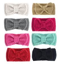 crochet band crochet bow headband for women and baby winter ear warmer