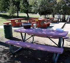 3 piece fitted picnic table bench covers amazon com custom stay put fitted tablecloth table cover for a