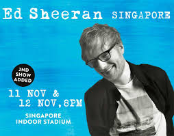 ed sheeran tour 2017 second concert date added to ed sheeran in singapore music asia