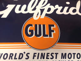 gulf oil logo gulf oil gas porcelain advertising sign ebay