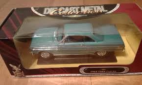 1964 ford falcon blue 1 18 diecast car model by road signature