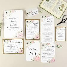 Wedding Samples Blush Floral Wedding Stationery Sample Pack By Nina Thomas Studio
