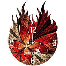 hoopoe decor burning classical theme trendy designer wall clock