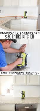 kitchen beadboard backsplash 30 beadboard kitchen backsplash tutorial ella