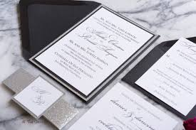 silver wedding invitations with glitter fancy wedding invitation all that