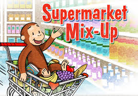supermarket mix curious george bit mess