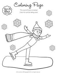 elf shelf coloring pages coloring