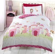 Peppa Pig Duvet Cover 100 Cotton Girls Pink Fairy Castle Fairy Tale Princess Single Duvet Cover