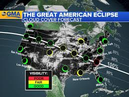map of us weather forecast total solar eclipse 2017 weather forecast for path of totality
