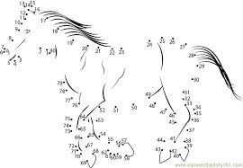 horse going for walk dot to dot printable worksheet connect the dots