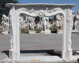french rococo hand carved marble fireplace mantel fireplace