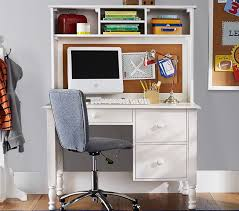 Computer Desk And Hutch Catalina Storage Desk U0026 Tall Hutch Pottery Barn Kids
