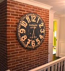 baroque oversized wall clocks in living room shabby chic with art