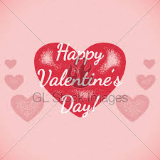 retro valentines retro valentines day card with shifted colors gl stock images