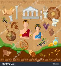 ancient history ancient rome ancient greece stock vector 418259197