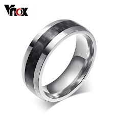 aliexpress buy vnox 2016 new wedding rings for women vnox fashion men ring carbon fiber jewelry stainless steel rings