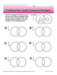 greatest common factors and least common multiple stats